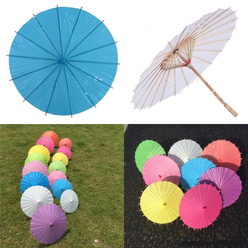 Mais barato!!! Chinês japanespaper guarda-chuva guarda-chuva para casamento damas de honra favores verão sol shade kid size 128 g2