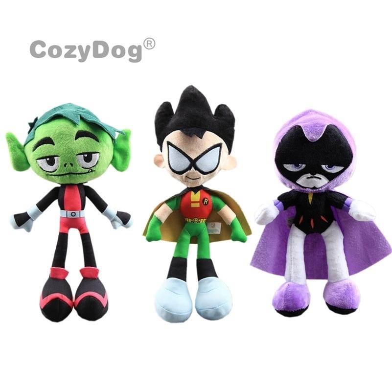 Teen Raven Raven Robin Peluche Toys Teenager Heros Beast Garçon Poupées Farcées 24-30 cm Enfants Cadeau LJ200914
