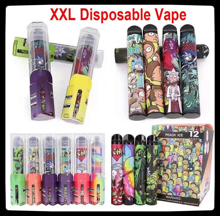 2000Puffs XXL Disposable Vape 800mAh Power Battery Pre-filled 6ml Pods Cartridges Vapor e Cigarette Portable Vaporizer Puff XXL Puff Flex