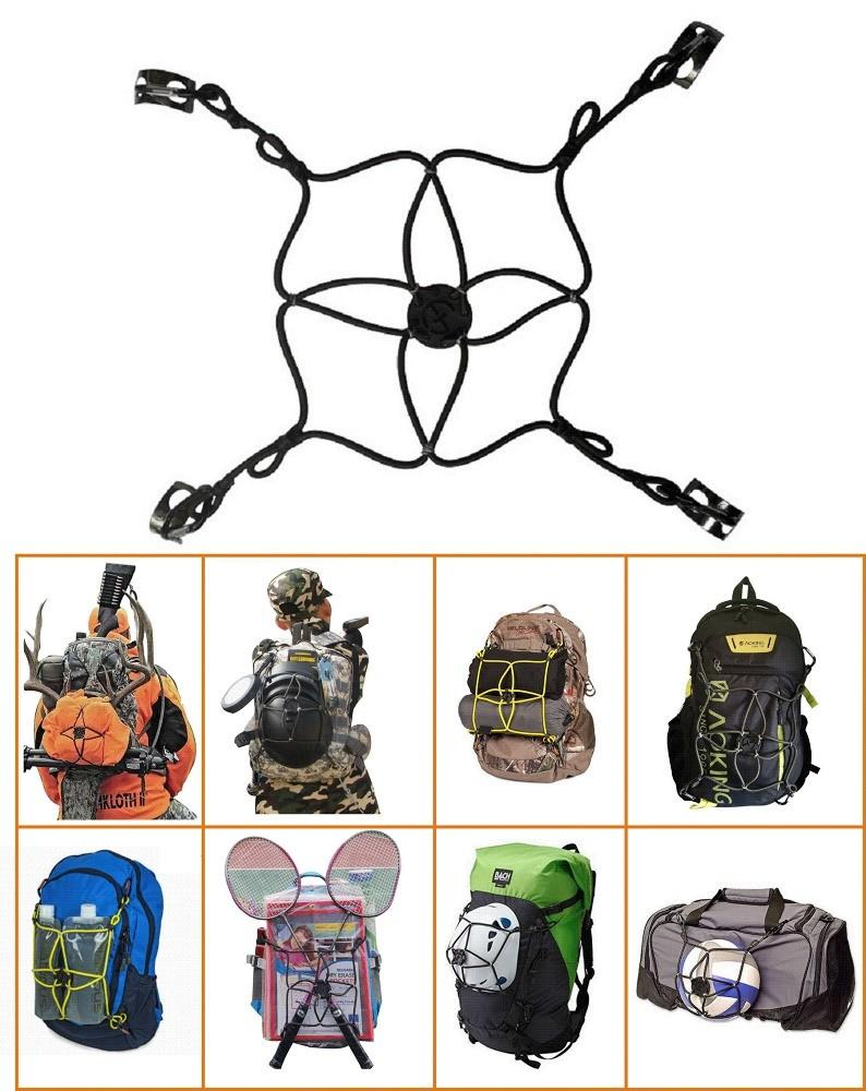 Jieming MiniNet Packnet Backpack Extension Bungee Included Shoes Balls Sleeping Bags Tents Outdoor Camping Gear Water Bottles Toy Pan Cup