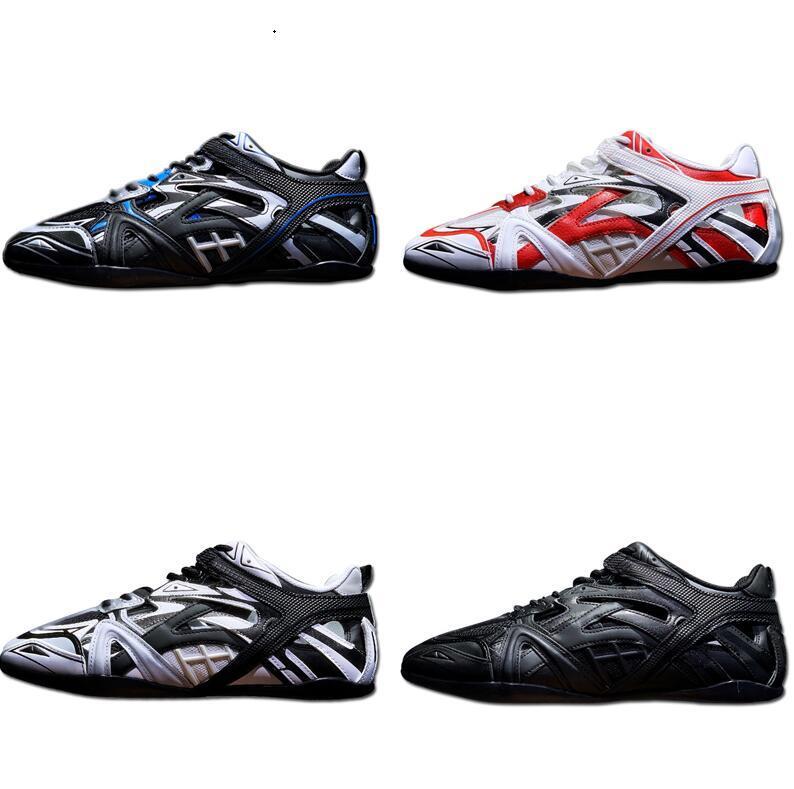 2020 Новый дизайнер Tyrex приводной кроссовки для мужчин Женщины в серебряной сетке в квадрате Curved Toe Track 6.0 Triple S Mens Designer обуви тренажеры