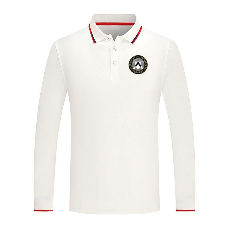 Udinese Unisex Premium Golf Series Polo Bavero Manica lunga Collar Street Camicia Trendy Shirt Pure Pure Color PREMIUM Comodo Polo