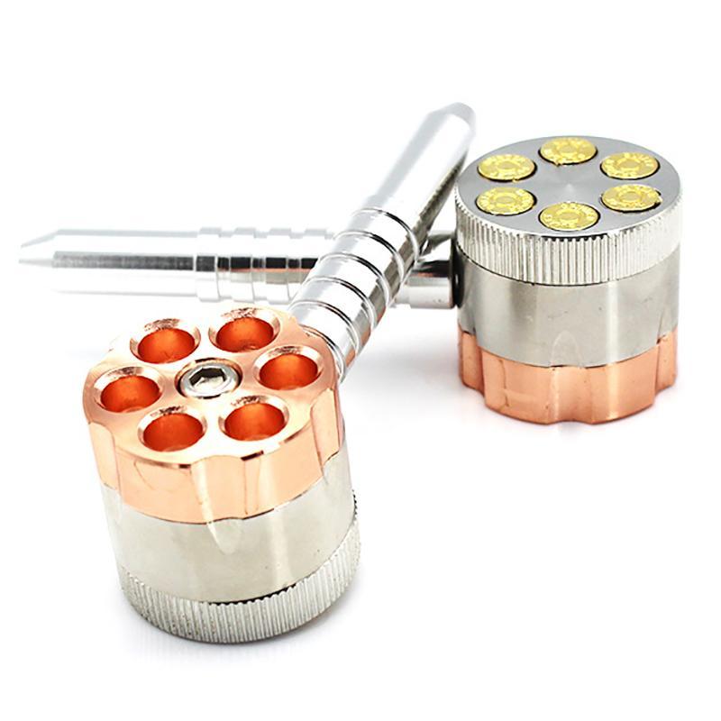 Sharpstone Ot Öğütücü Öğütücüler Çinko Bullet Boru Öğütücü 3 Katmanlar 40mm Tütün Kırıcı Kuru Herb Metal Öğütücüler için Fabrika Fiyat