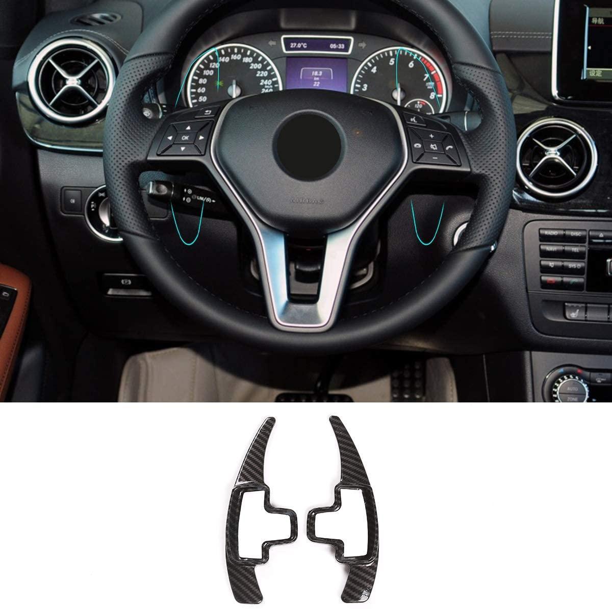 Strift de pagaie de volant pour Mercedes Benz A B E GLA GLK GL SLK R ML Classe, W176 W246 W212 x204 x166 (fibre de carbone)