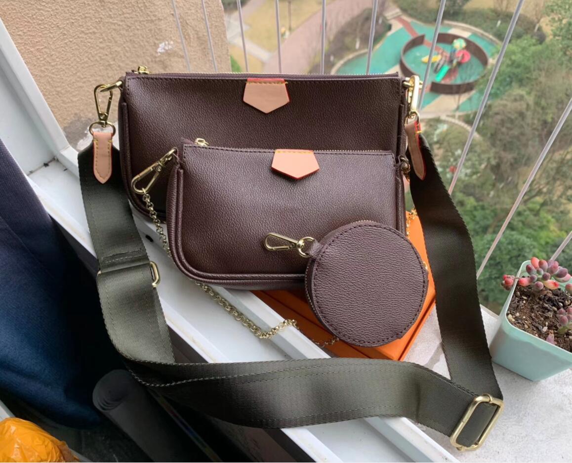 Pole Favorito Pochette Diseñador Bolso Crossbody Brand Genuine Leather Ladies Flower Multi Bolsa de Lujo Bolso L Monedas 3 PCS Tarde Shou MNLH