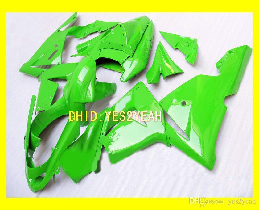 Kit de corps de carénage verdoyant pour Kawasaki Ninja ZX10R 04 05 ZX-10R Bodywork ZX 10R 2004 2005 Résistances de moto Set + Cadeaux