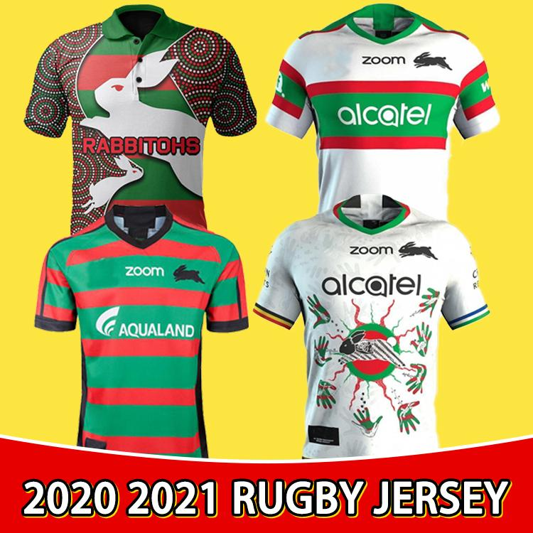 2020 Sur Sydney Rabbitohs Away Rugby Jersey 2021 South Sydney Rabbitohs Rugby Camisa Tamaño S - 5XL