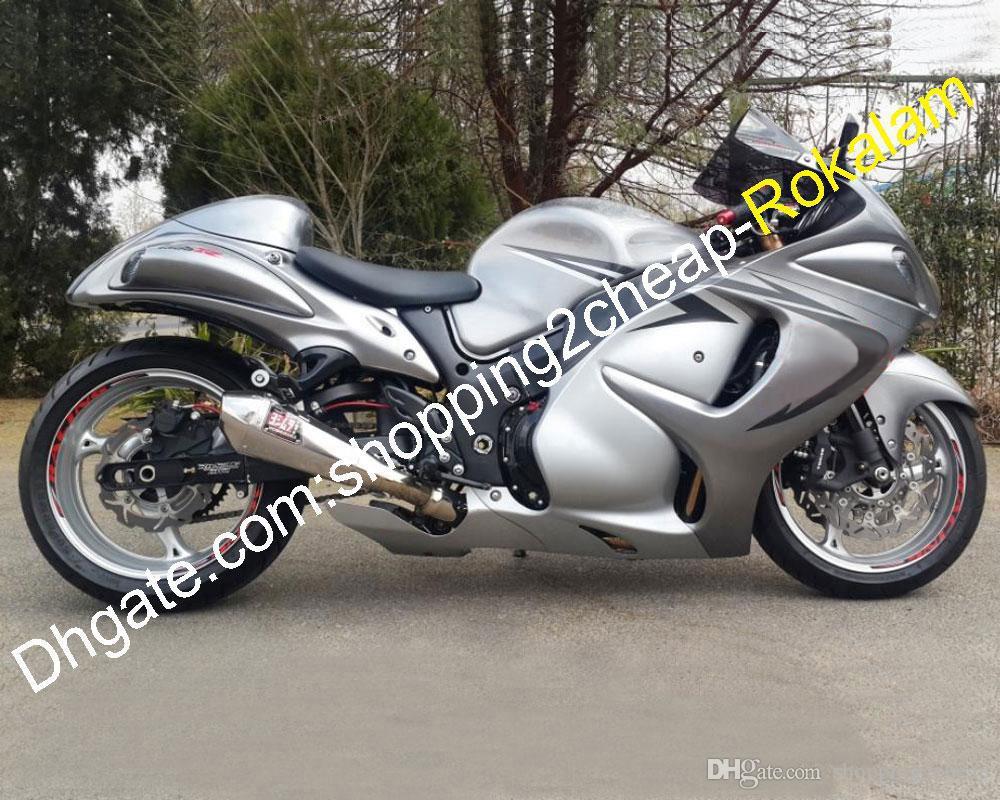 Kit de carenado ABS para Suzuki GSXR1300 GSXR 1300 2008 ~ 2012 2013 2014 2014 2015 2016 Piezas de carrocería de la moto de plata (moldeo por inyección)