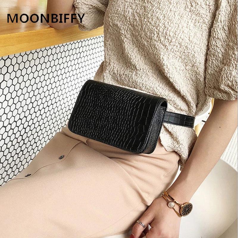 Горячая корейская талия сумка женский крокодил рисунок квадратный пакет 2020 черный мессенджер сумки
