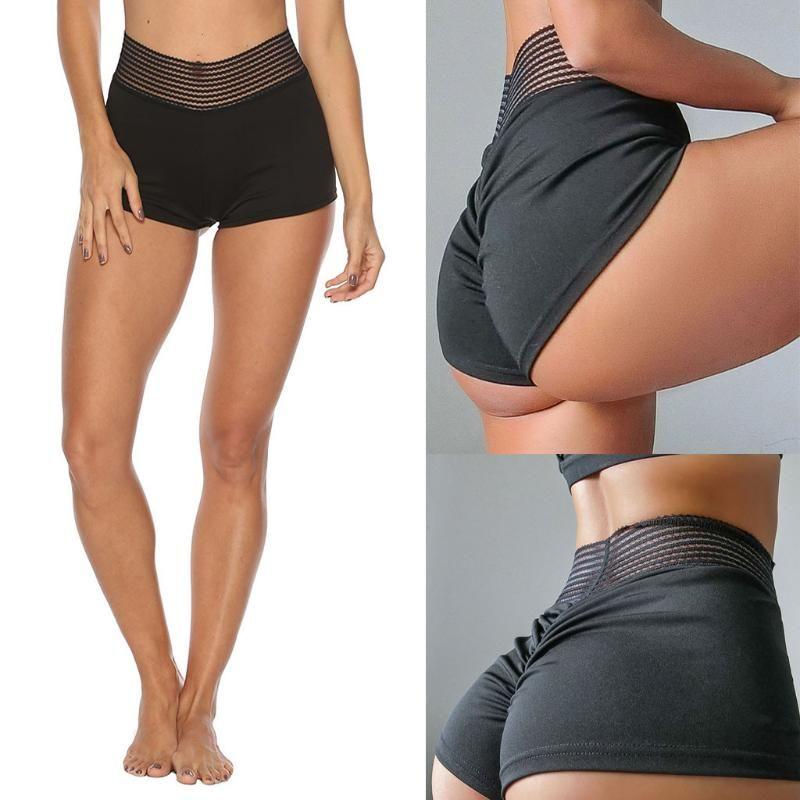 Sexy Women Sport leggings Gym Exercise High Waist Fitness leggins High elasticity Tights Running Athletic Yoga waist shorts