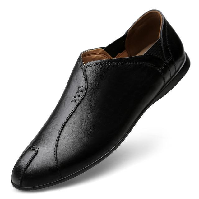 Натуральные кожаные мокасины мужская обувь роскошный скольжение на мокасинах повседневная обувь открытый мода дышащие летние мужчины лодочные туфли