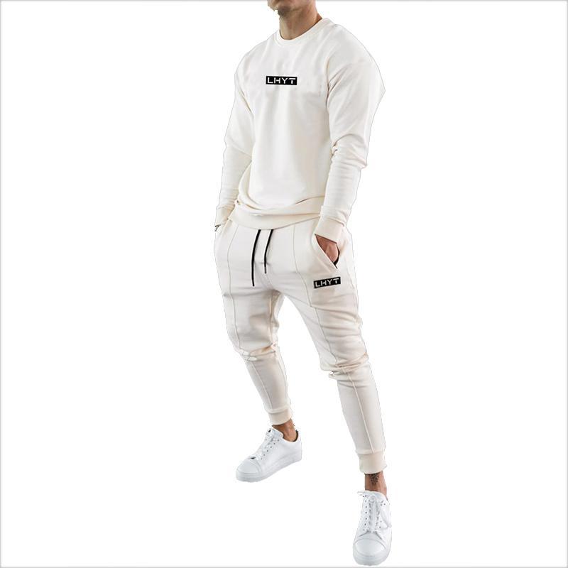 Mens tracksuits algodão casual hoodie conjunto outono masculino moletom roupas para homens 20tz23 201124