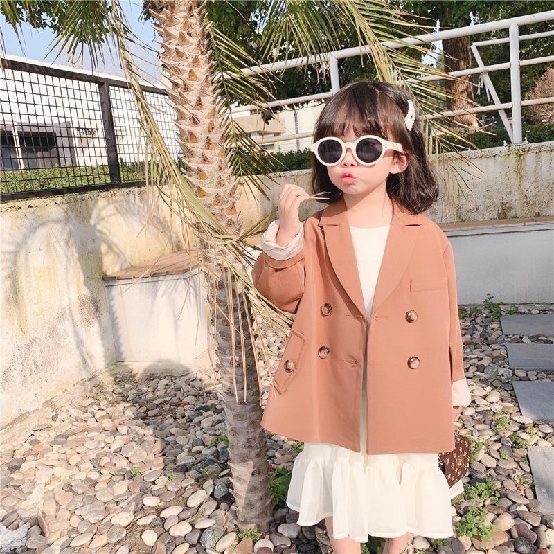 Vestes Spring Blazer pour filles Casual Blazers costume Enfant Automne Manteau Enfants Solide Long manteau Tops Christmas Noël