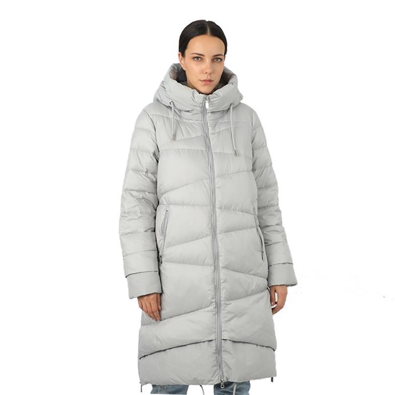 Giacca lunga da donna Piumino Parka Outwear con cappuccio Cappotto trapuntato Femmina Plus Size Qualità di cotone Vestiti caldi Outwear 19-053 / 11153 201214