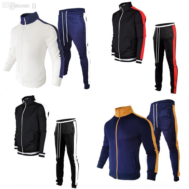 Talr7 스웨터 남성 스웨터를 만드는 남자 streetwear 끌어 오기 불꽃 색상 일치 패턴 오 ~ 목 홉 가을 새로운 레트로 슬림 스탠드 칼라