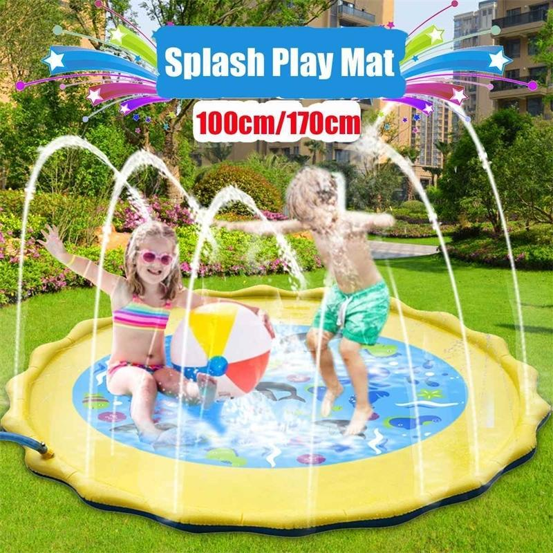 Summer Outdoor Spray Water Cushion PVC Inflatable Spray Water Toys for Children Play Water Mat Games Beach Lawn Sprinkler Pads Y200728