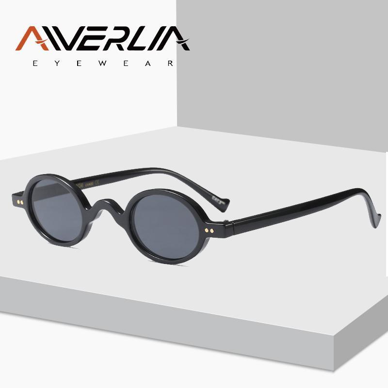 Black Ai18 Brand Ретро Женщины Cool Aiverlia Солнцезащитные очки Женские Овальные Малые оттенки Винтаж Дизайнер Леди Очки Солнцезащитные Очки PXIDT