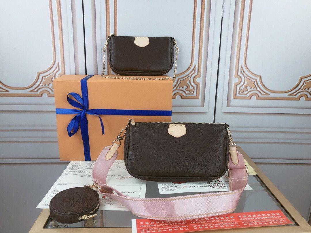 Luxurys Brieftasche Taschen Crossbody Geldbörsen Zubehör 3 stücke Pochette Favorite Leder Handtaschen Frauen Vintag Umhängetaschen Designer Bag Strap VIVQ