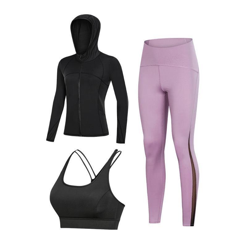 Yoga Apparel Fall Bra Bra underwear long-sleeved pants indoor training set outdoor ladies fitness running three-piece dry suit