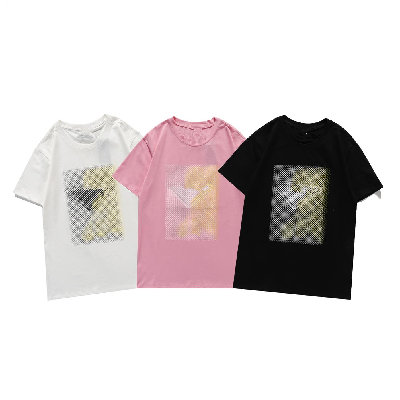 2021 New 21SS Mens T Shirt High Quality Men Women Couples Casual Short Sleeve Mens Round Neck Tees 5 Colors S-5XL
