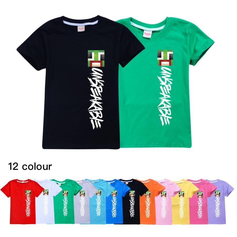 Crianças indescritível de verão tops de algodão camiseta camiseta roupas criança meninas camiseta camisa preta camisa bebê meninos cartoon camisas traje q0112