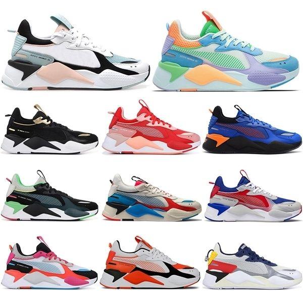 Yeni RS-X Erkek Koşu Ayakkabıları Rejiş Serin Siyah Beyaz Creepers Baba Chaussures Erkekler Kadınlar Koşucu Eğitmen Spor Sneakers EUR 36-45