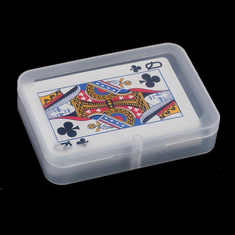 Şeffaf Oyun Kartları Plastik Kutu PP Saklama Kutuları Paketleme Kılıfı (6 cm'den Kartlar Genişliği) FWD3105