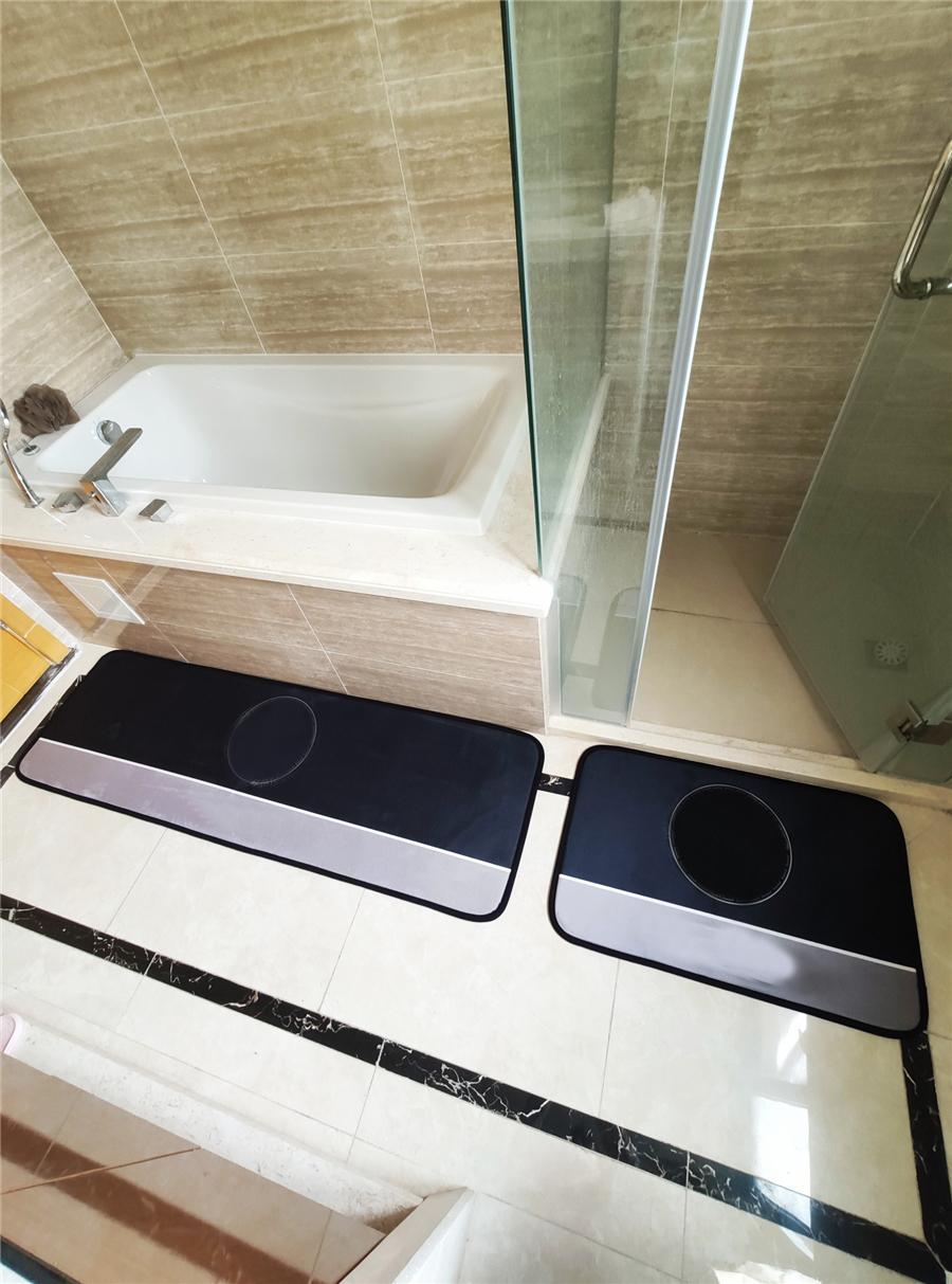 Urable Bathroom Mats Tide Letters Pattern Rectangle Carpets Non Slip Hallway Toilet Door Rugs Kichen Balcony Porch Carpet