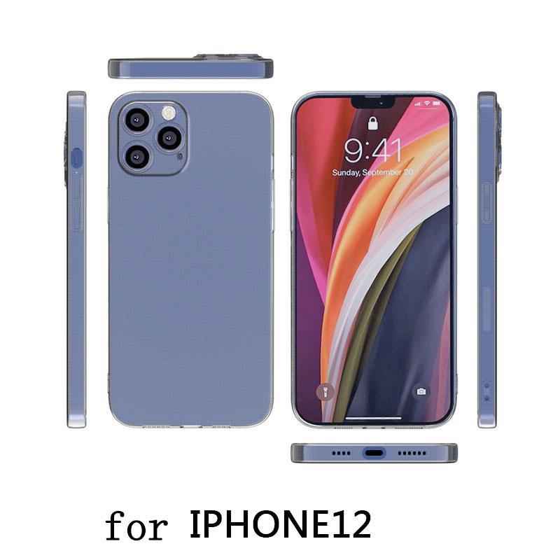 Guangzhou Juropin para TPU transparente TPU Funda de telefonía trasera anti-shock para iPhone 12 Pro Max