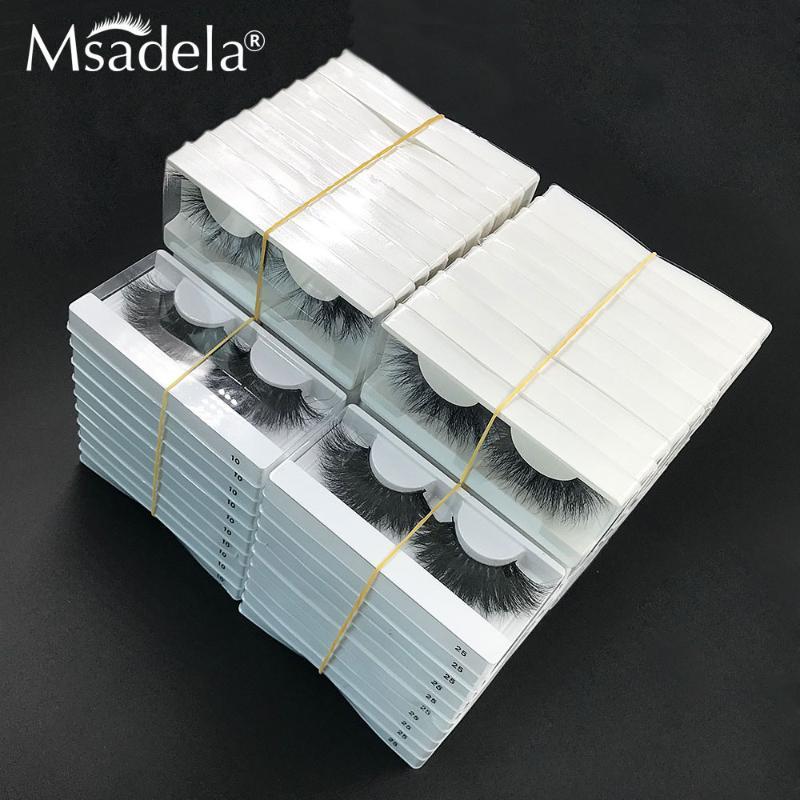 5D False Eyelashes 25mm Mink Lashes Wholesale 10/20/30 Pairs Mink Lashes In Bulk Dramatic Handmade Long 3D Eyelashes Makeup