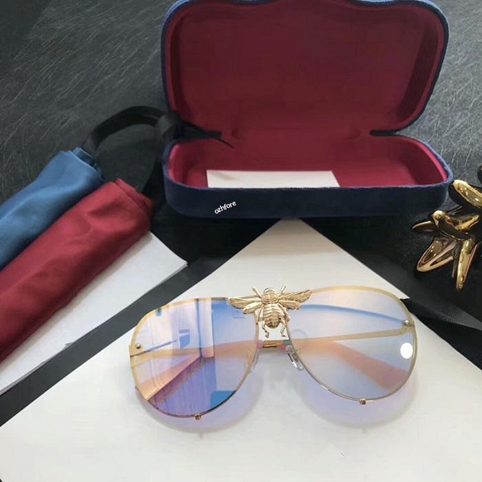 Золотое мужское отношение Buffalo для мужчин металлический рог Лен 2020 старинные очки ретро точечные моды очки без оправы серебряные солнцезащитные очки Clear GL OPFE