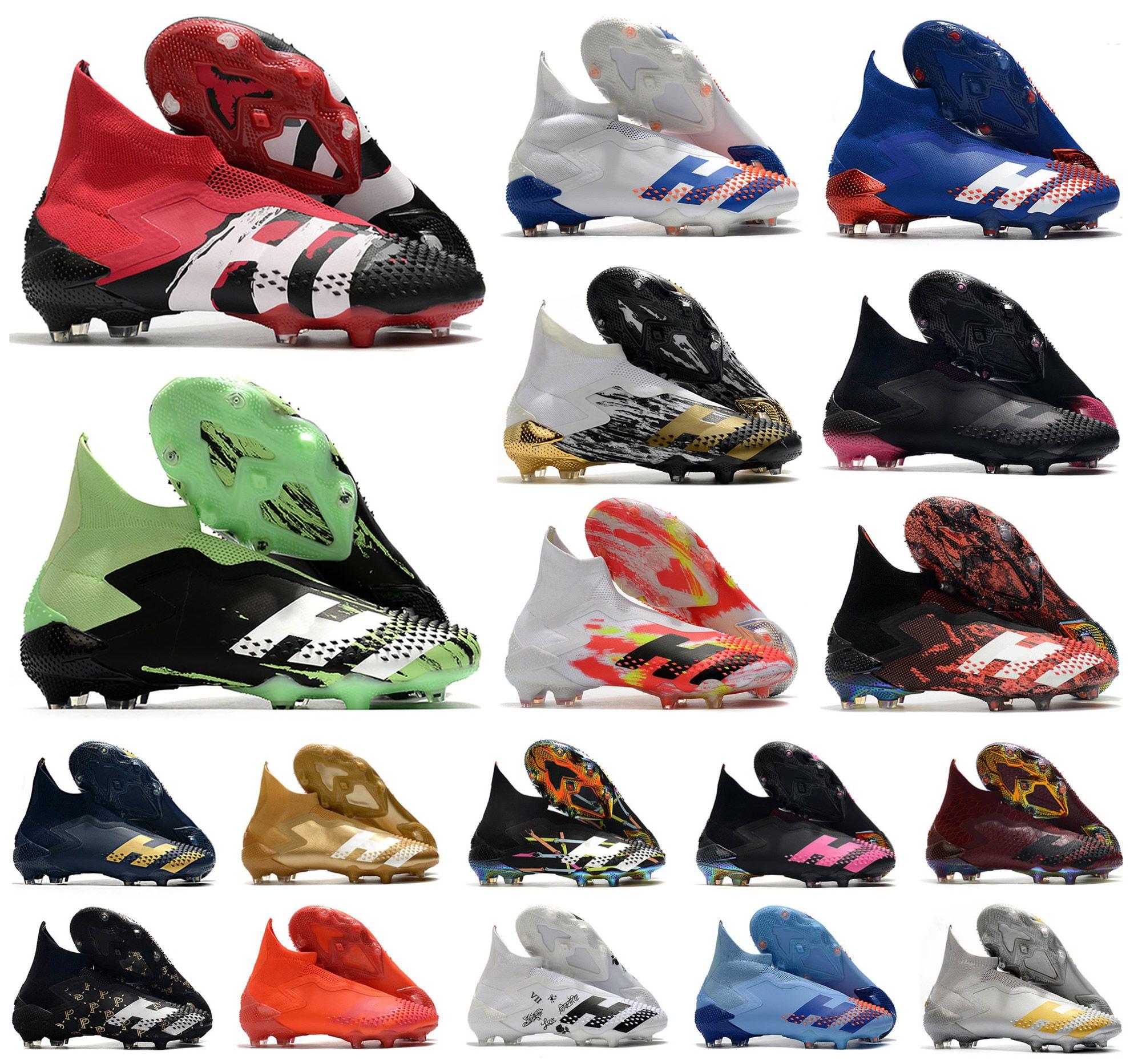 2020 المعتوية المفترس 20+ FG الإنسان سباق نفخ السماء تينت pp pow pogba رجل الفتيان الانزلاق على كرة القدم أحذية كرة القدم 20 + × المرابط الأحذية US6.5-11