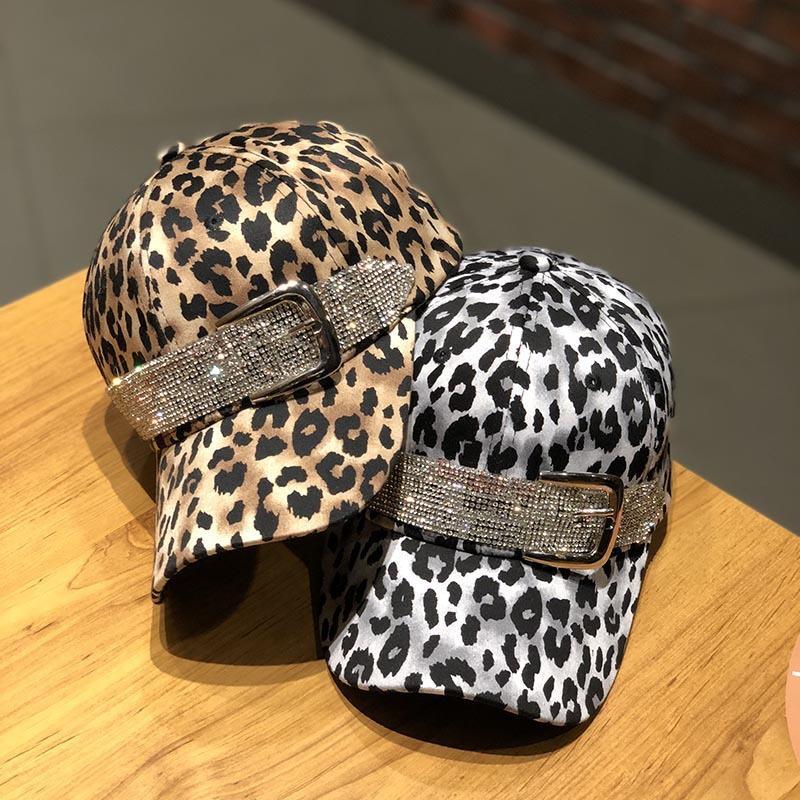 Primavera luxo strass snapback boné de beisebol mulheres gorra boné rua hip hop caps chapéus para senhoras leopardo boné de beisebol j1210
