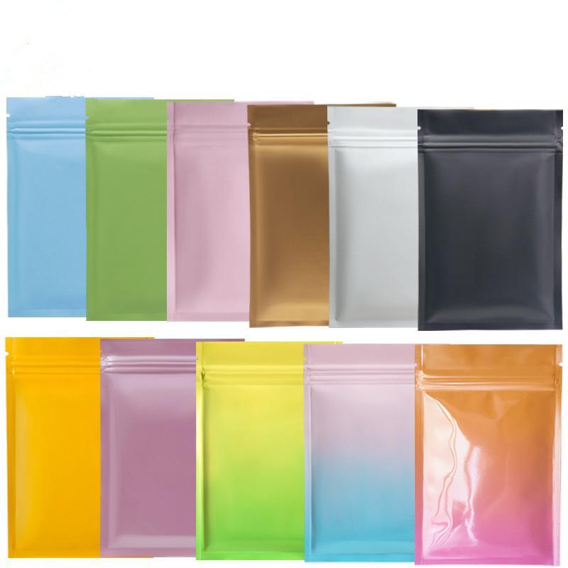 멀티 컬러 resealable zip mylar 가방 음식 저장 알루미늄 호일 가방 플라스틱 포장 가방 냄새 증거 파우치