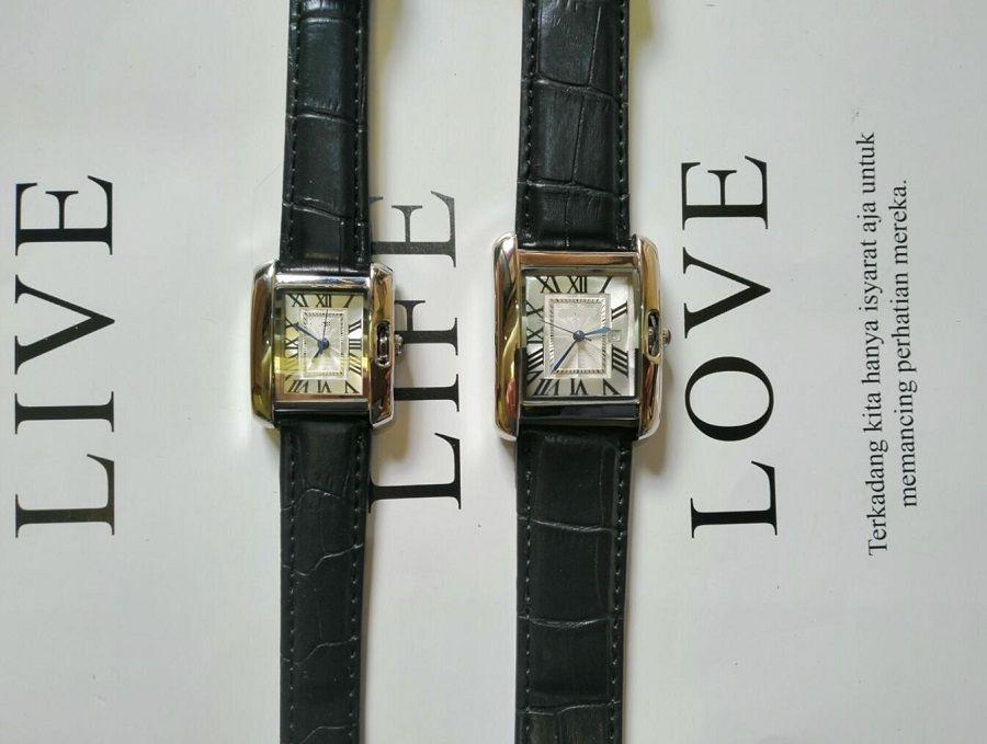 Vendita calda moda moda donna uomini quadrante quadrato cinturino in pelle quadrato Giappone al quarzo di alta qualità orologi da donna impermeabile uomo unisex orologio semplice