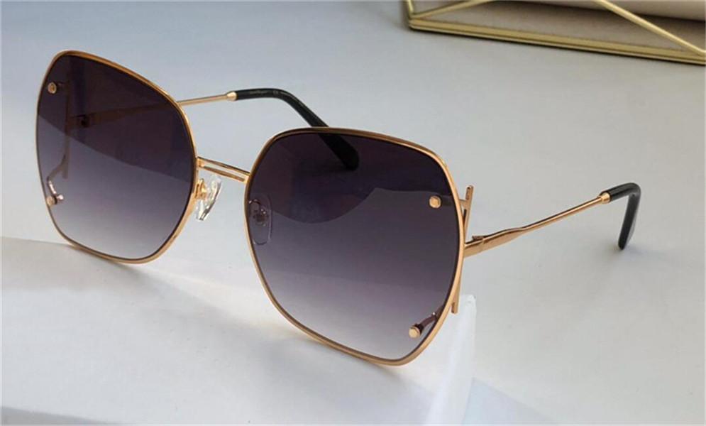 New Fashion Design Sunglasses 202 Quadrato telaio in metallo popolare semplice stile nobile all'ingrosso esterno protettivo occhiali UV400 Lente