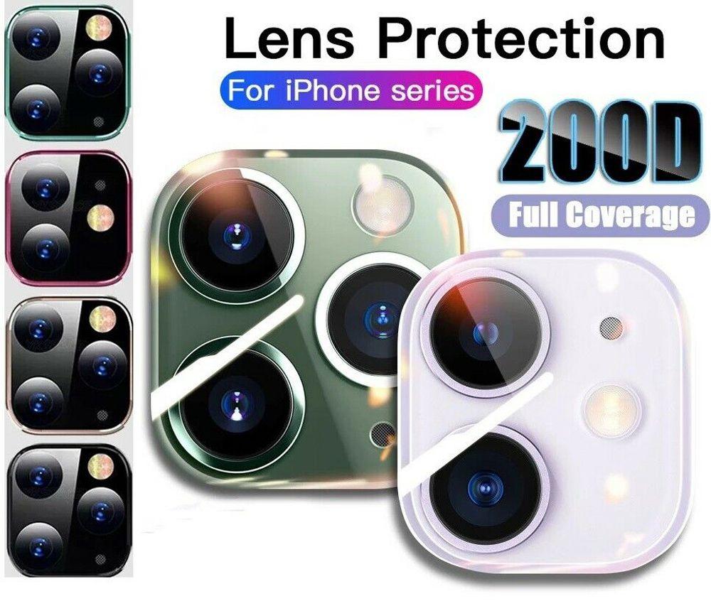 iPhone 12 Pro Max HD 백 렌즈 보호 링 커버 케이스에 대한 카메라 화면 보호기 iPhone 11 강화 유리 필름 케이스 보호