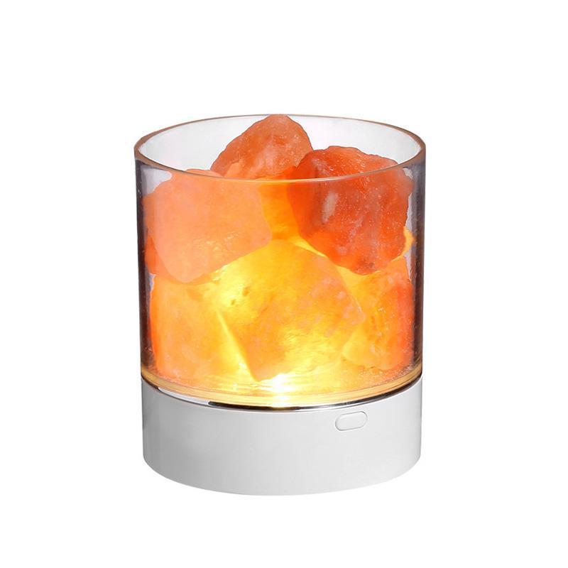Fábrica direta colorida LED atmosfera noite luz quarto sala de estar de cristal salt anion purificação de ar lâmpada