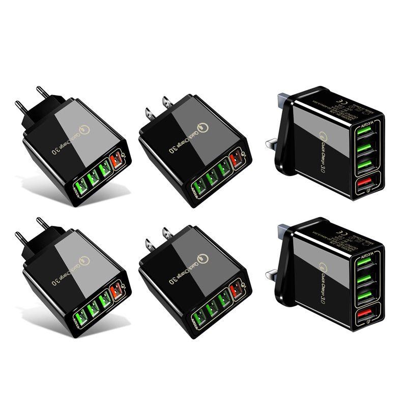 Быстрая зарядка 3.0 4.0 USB зарядное устройство 3.1A быстрый настенный мобильный телефон зарядное устройство для 4 портов адаптер QC 3.0 зарядное устройство оптом