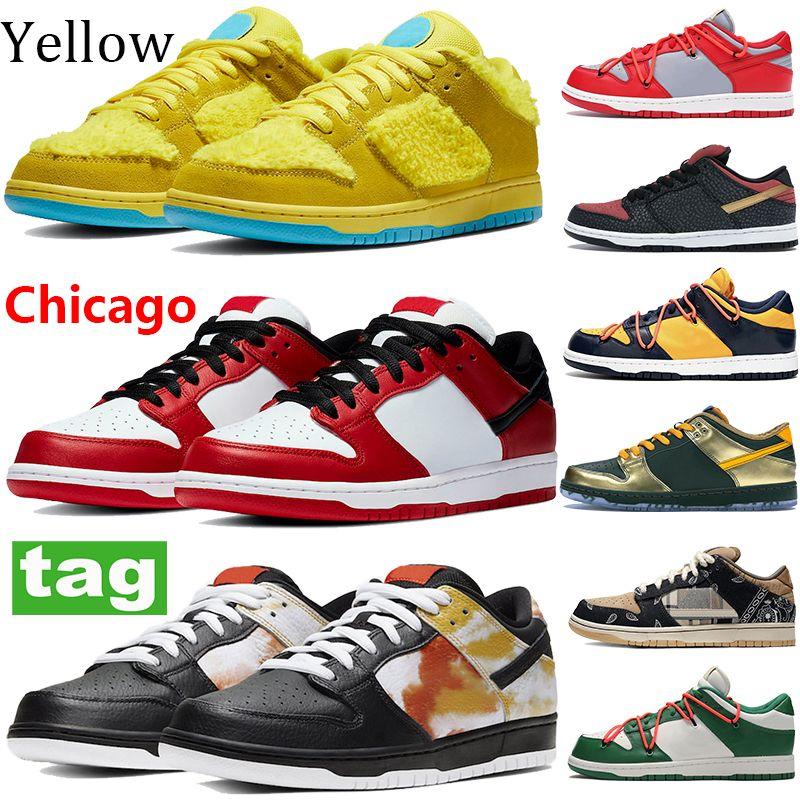 الأزياء المنخفض شيكاغو الأصفر البرتقالي الأخضر الغضب الرجال النساء أحذية رياضية أسود أبيض جامعة حمراء الاسمنت الذهب الصنوبر الأخضر التعادل صبغ الاحذية