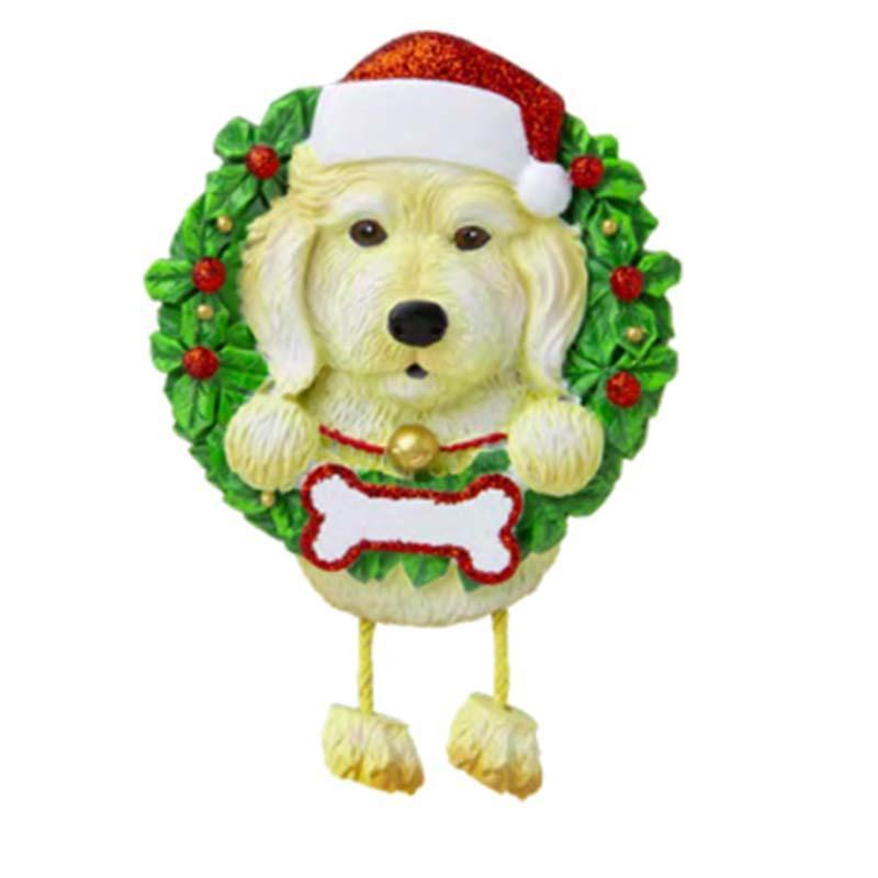 Прекрасные собаки DIY Название Сообщение Подвеска Рождественские Украшения ПВХ PET Собака Кулон Новая Рождественская елка Подвесной орнамент