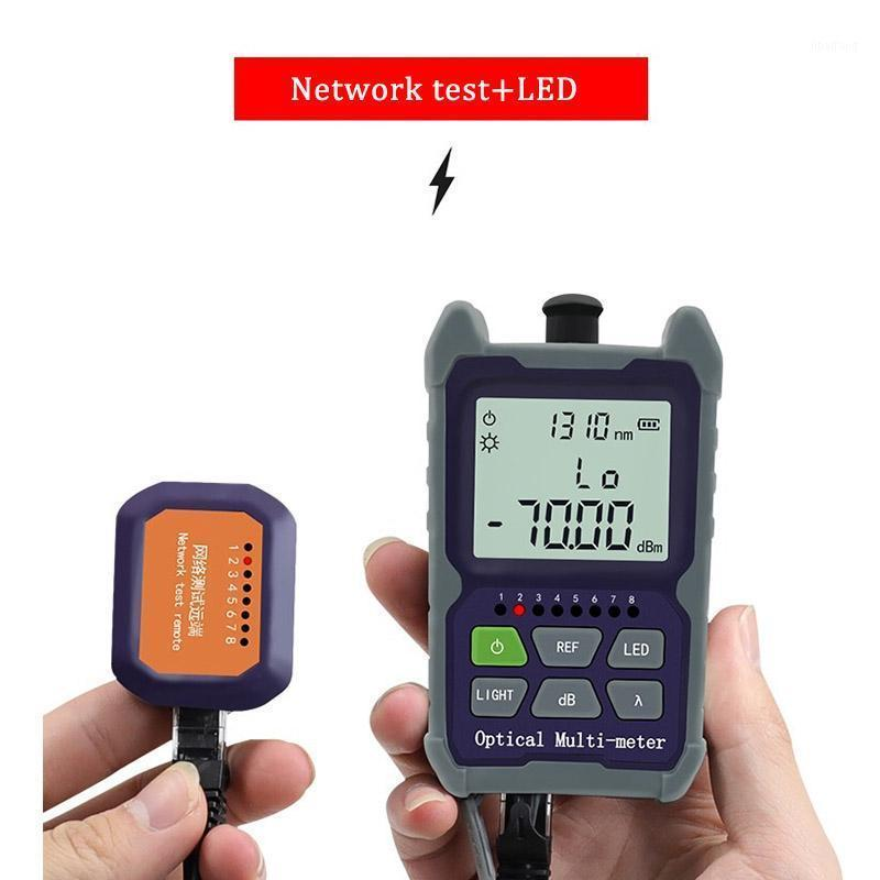 FTTH Mini 4 in 1 Optical Power Meter Rechargeable lithium Fiber Optical Network test SC/FC/ST Universal interface Connector1