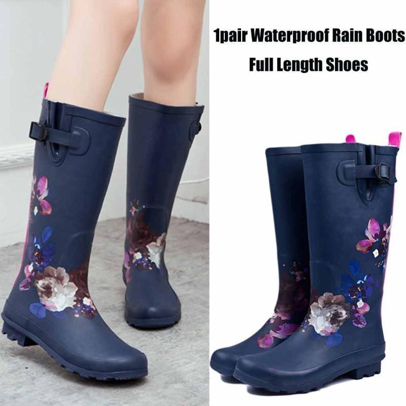 Yağmur Botları Kadınlar 2020 Karışık Renkler Bayanlar Kauçuk Çizme Moda Suya Rainboot Kaymaz Düşük Topuk Kauçuk Yard Bahçe Ayakkabı ## gr