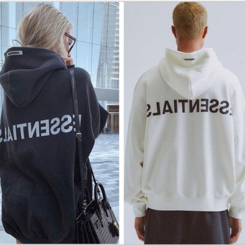 Износ Бога туман двойной линии ESSENTIALS моды бренд с капюшоном свитер для мужчин потерять любителей