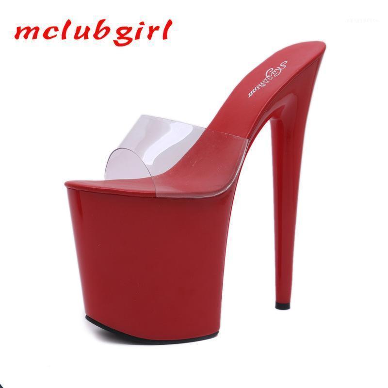 McLubgirl 20см Platfrom Осенний ночной клуб сексуальные женские туфли платформы римской рыбы головы леди ультра-высокие тапочки LFD1