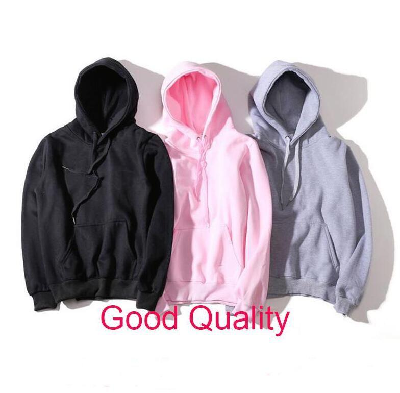 Nova Moda Hoodie Homens Mulheres Esporte Sweatshirt Size S-XXL 5 Cor Mistura de Algodão Moda Espessa Hoodies Pullover Manga Longa Streetwear