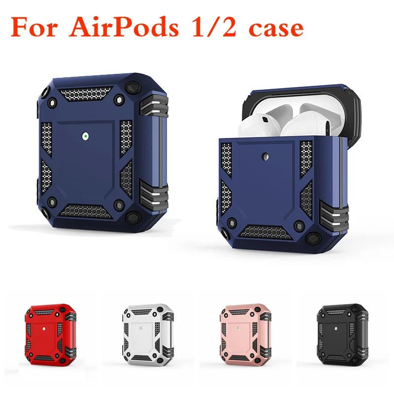 TPU حالة ل AirPods 1 2 برو غطاء واقي كامل ل airpod 1st 2nd 3rd الجيل صدمات درع حالة الغطاء