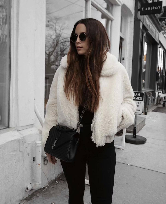 Giacca da donna in pelliccia bianca in pelliccia di coniglio Fall Faux U20-18886