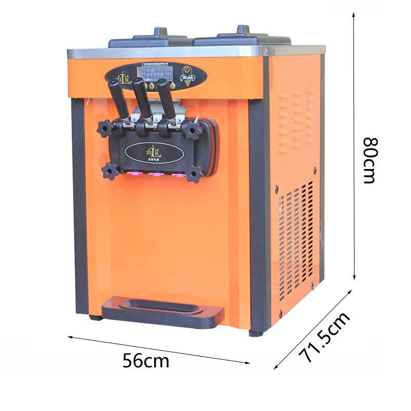 Trois arômes Machine à crème glacée pour la crème glacée portable de la crème glacée électrique de la crème glacée faisant la machine BL25O