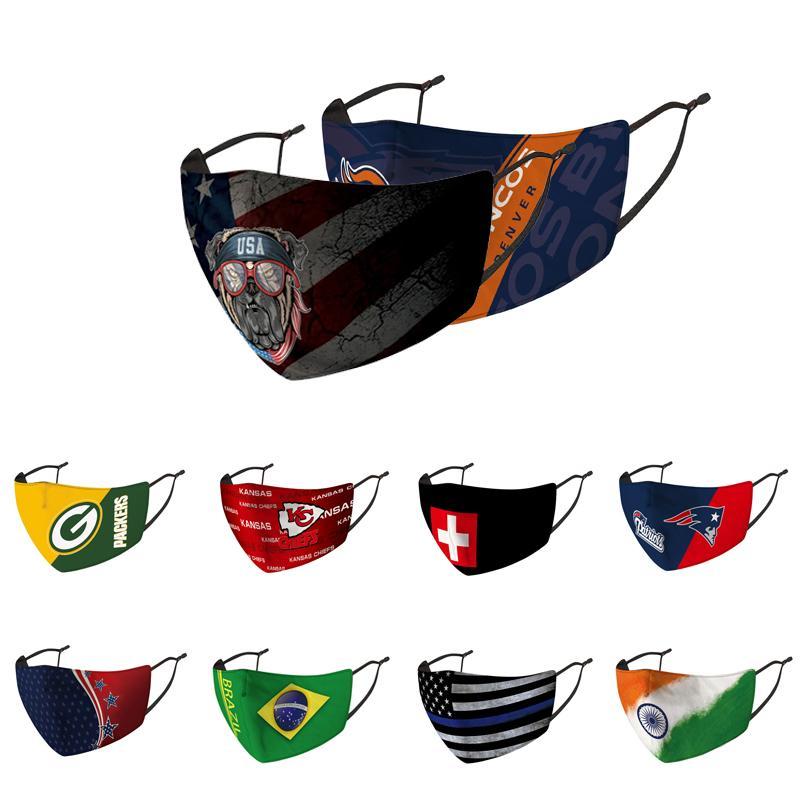 Мода роскоши дизайнерские маски лица футбольная команда орлов Святые против пыли моющаяся многоразовая маска может быть смешана